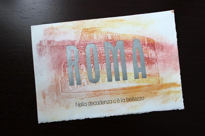 Roma letter pressing