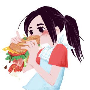 tomoka eating