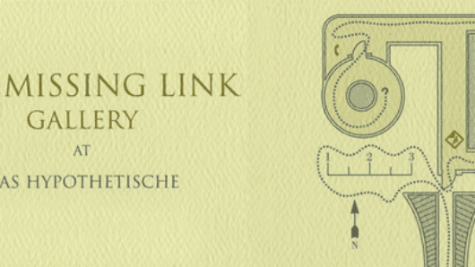 web banner of the missing link gallery