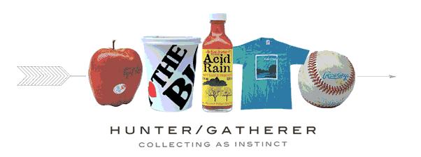 logo of hunter/gatherer collecting as instinct