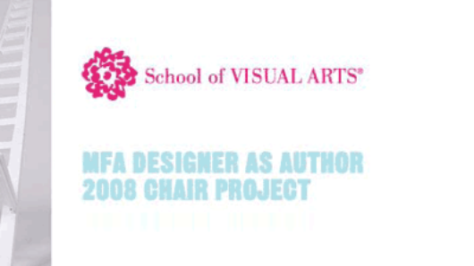 web banner of SVA MFA design as author 2008 chair project