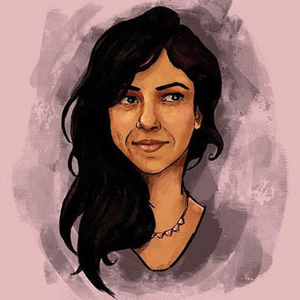 illustrated portrait of Akansha Kukreja