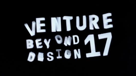 venture beyond design 17 typographic title