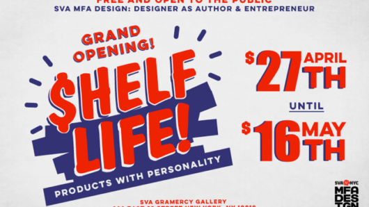 event poster of Shelf Life products with personality