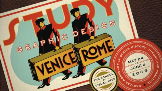 promo art for study graphic design in Venice and Rome masters workshop