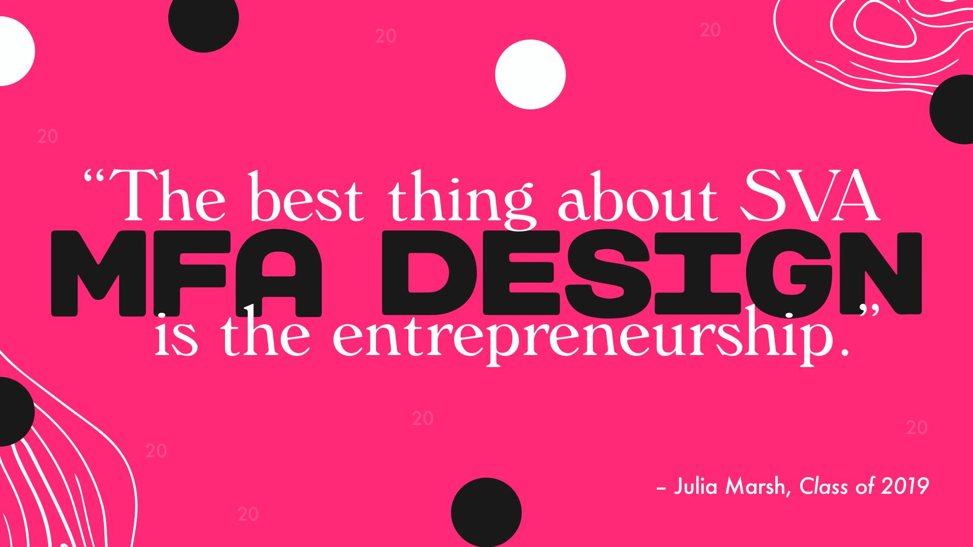 MFA Design entrepreneurship