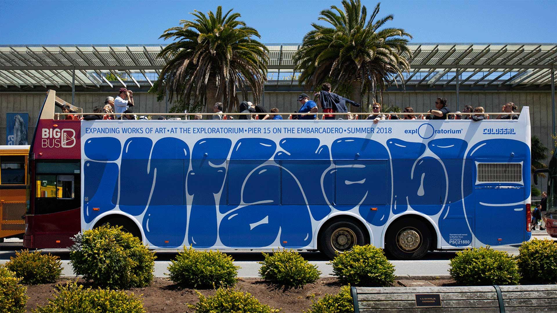 Grafitti bus from Collins studio