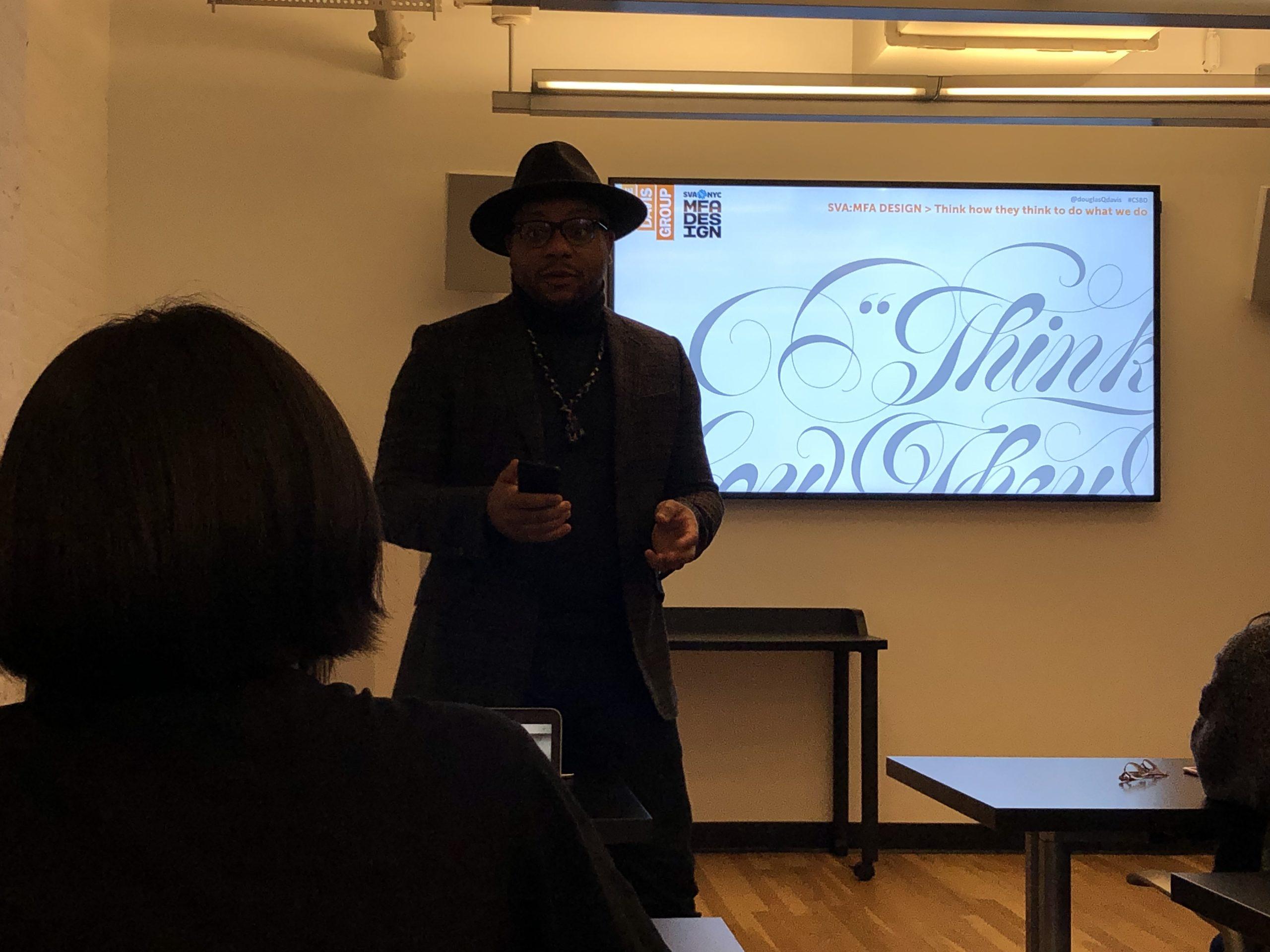 Douglas Davis giving a talk