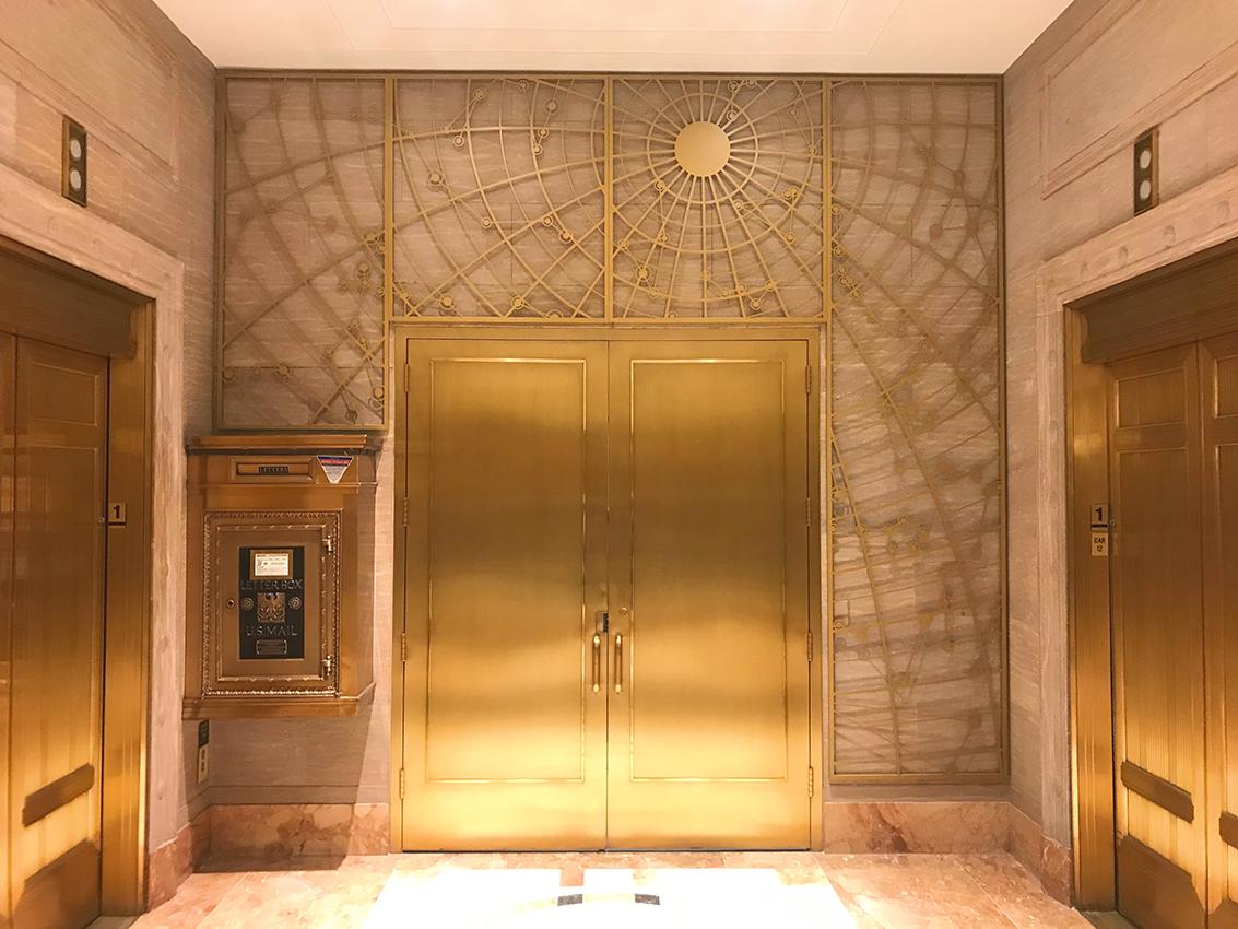 Laura Gunther alumni spotlight on a picture of gold interior design