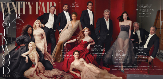 vanity Fair hollywood stars layout