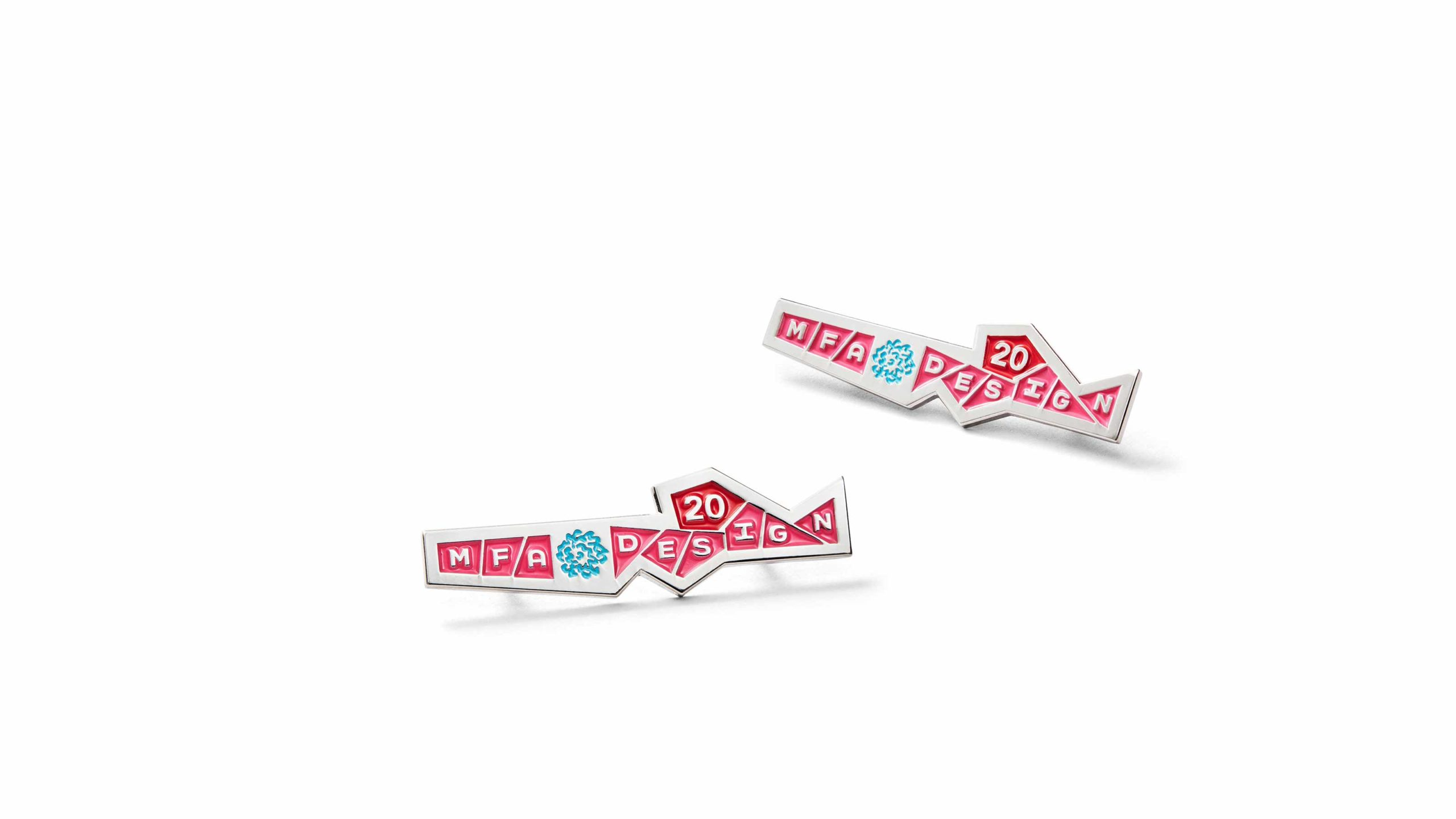 MFA Design enamel pins