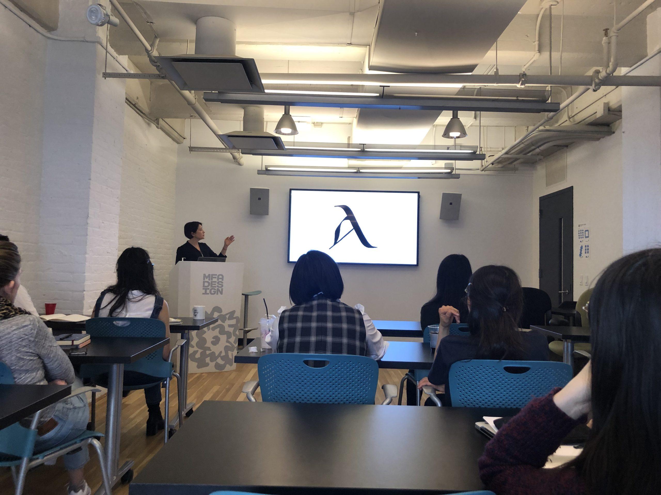Maya Kopytman's guest lecture showing slides