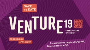 Venture 19 - save the date April 17 2019