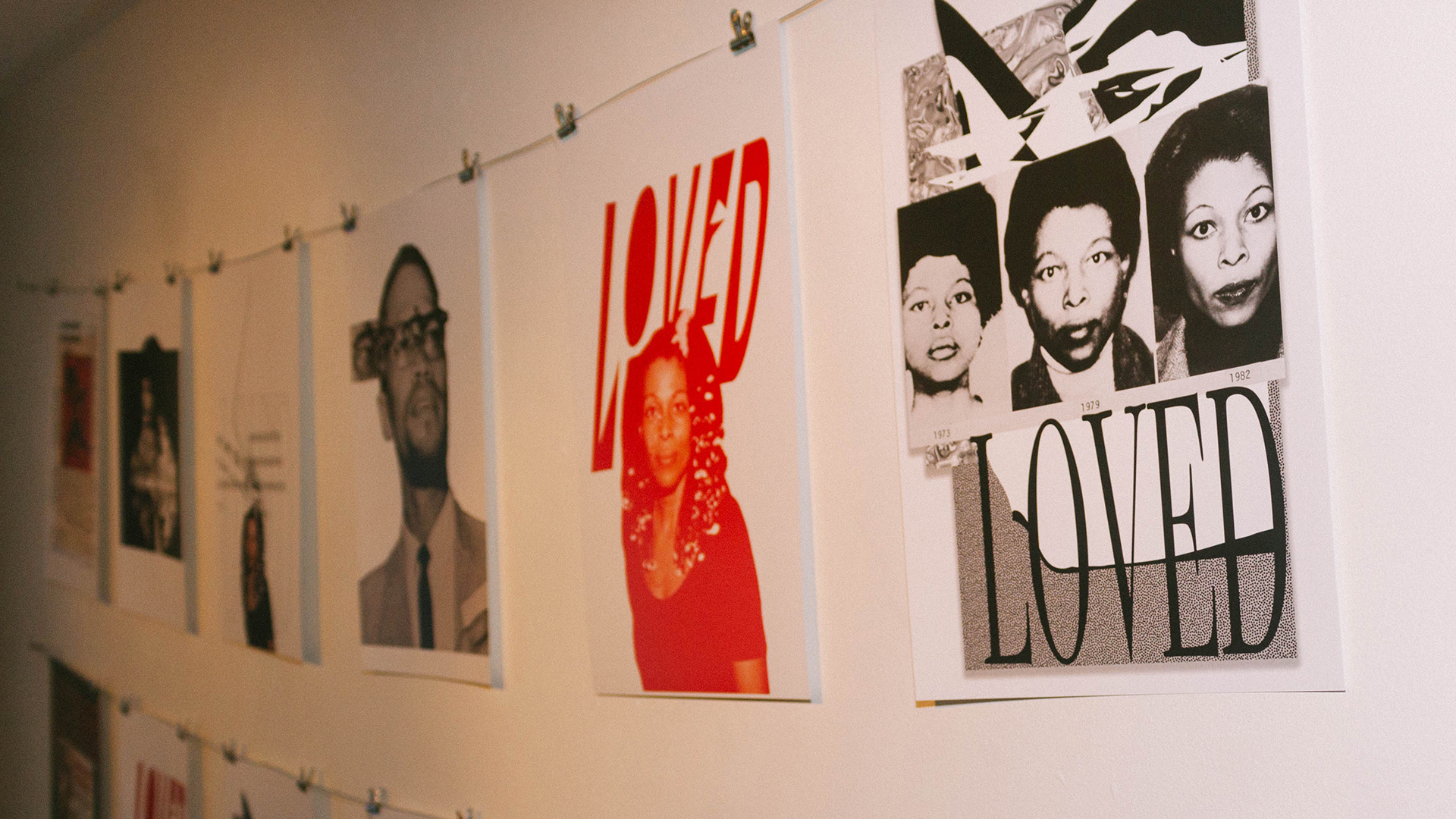 series of poster display
