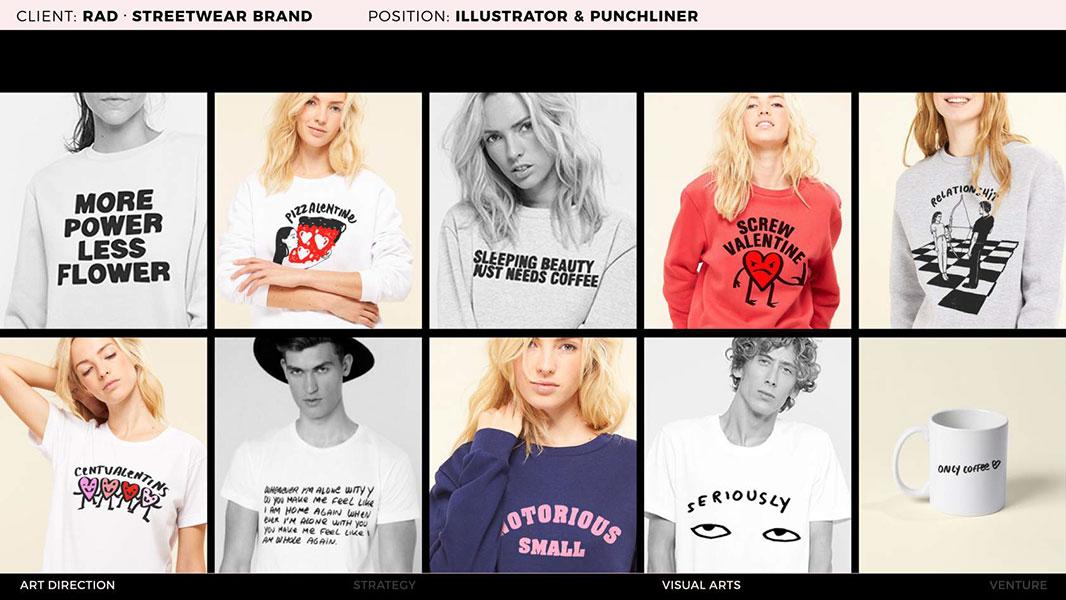 Sarah Tamani sweatshirt designs