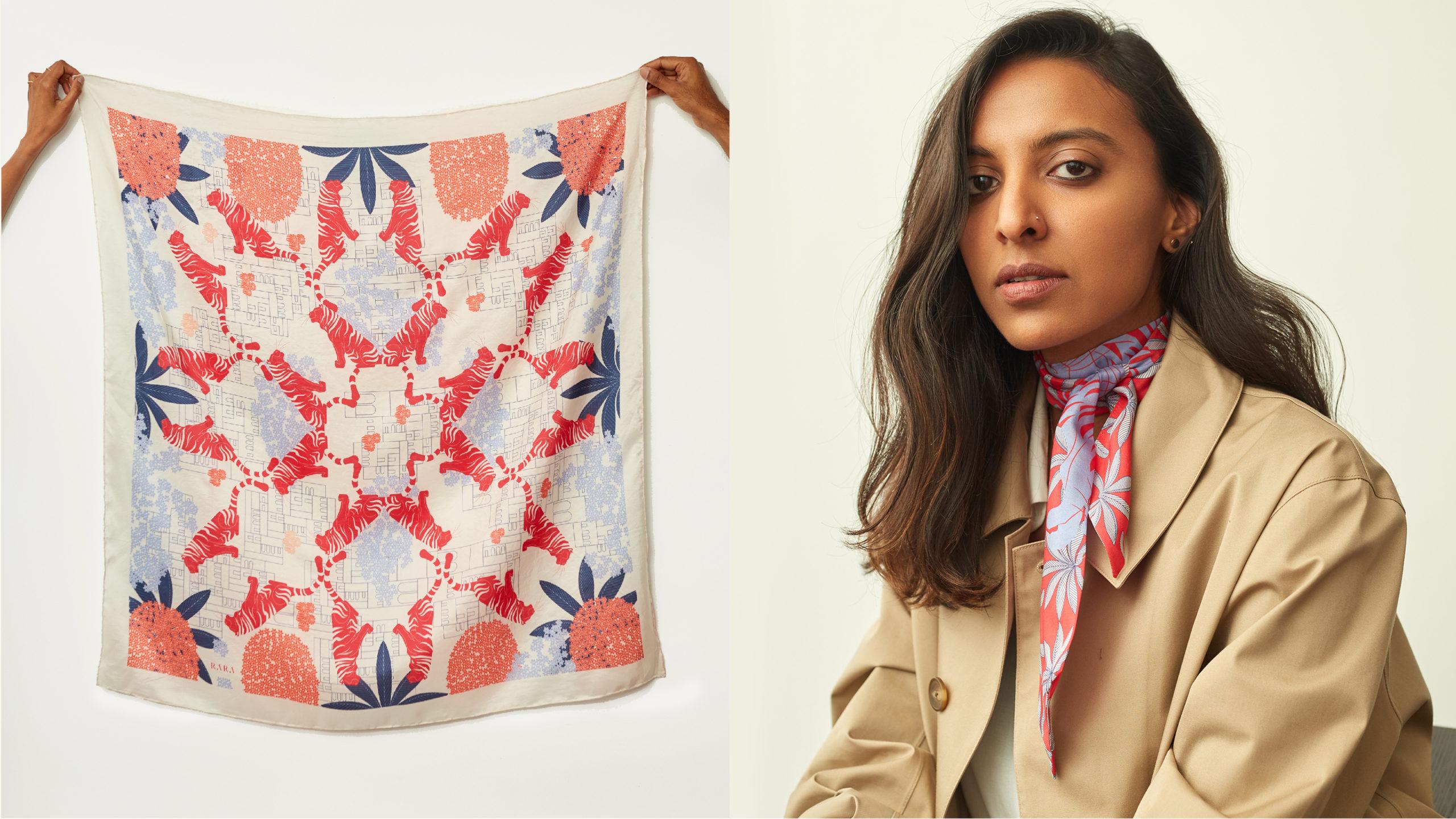 Radhika Maheshwari wearing scarf