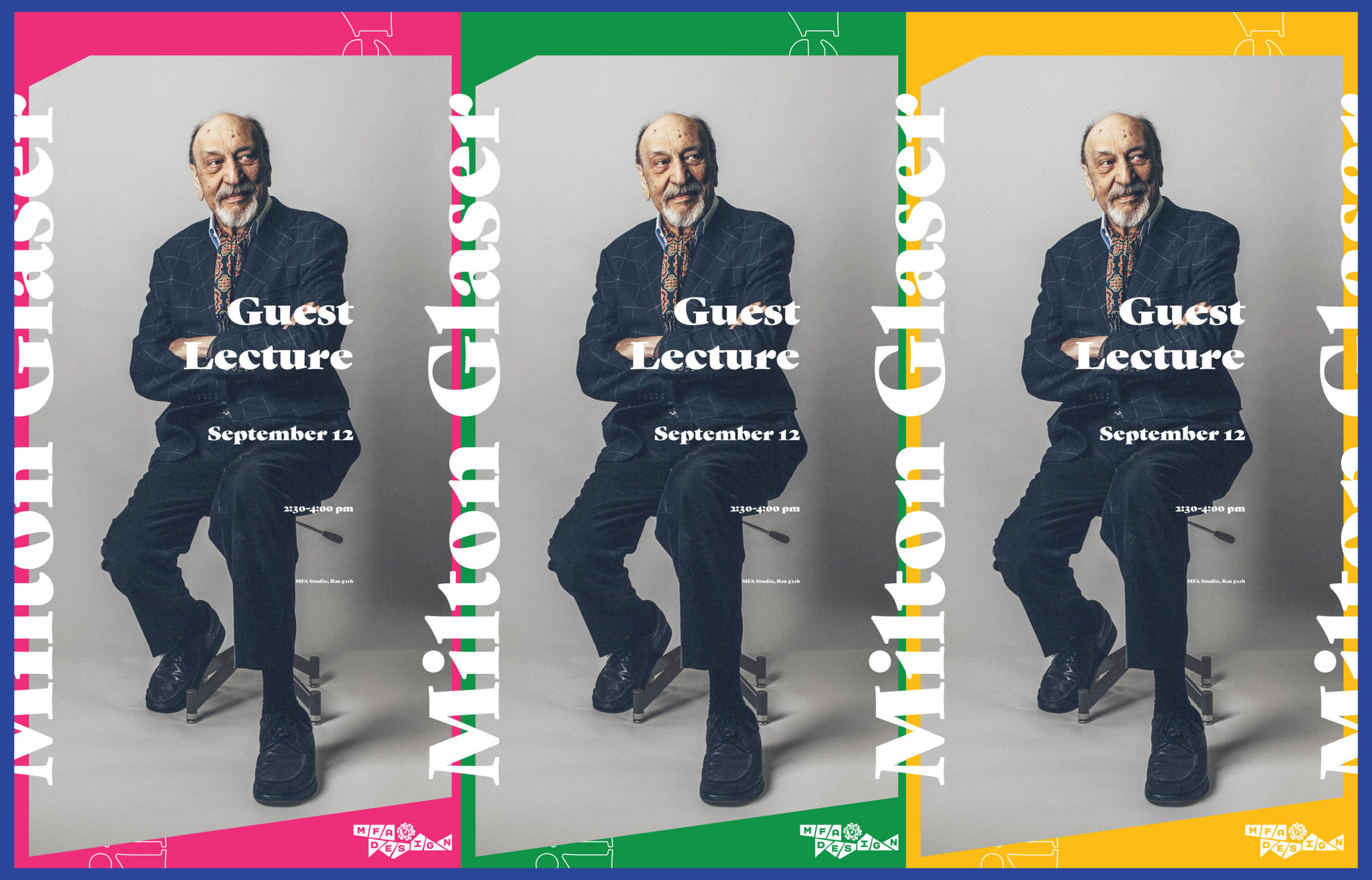 Milton Glaser lecture poster