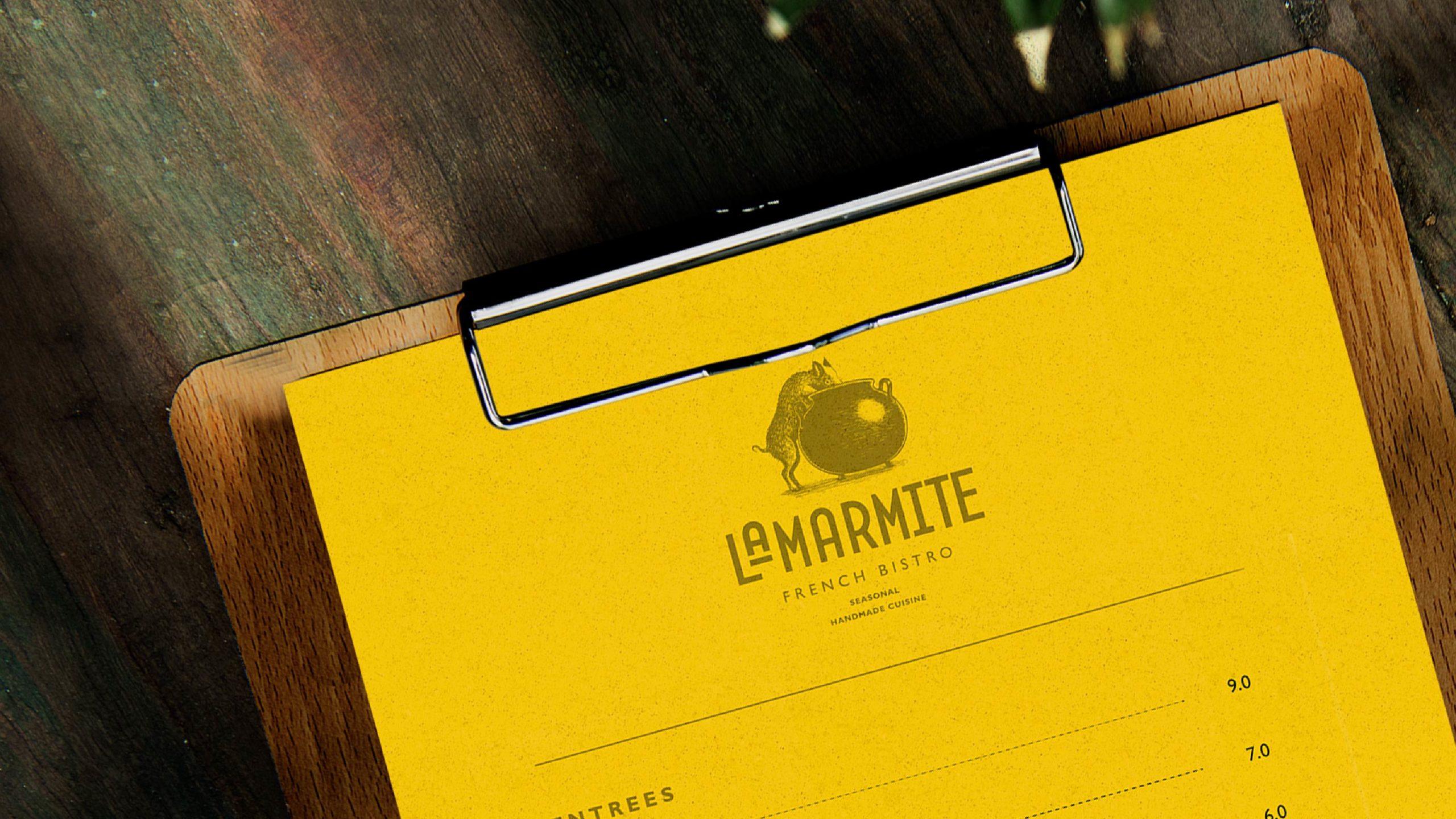 LaMarmite menu design