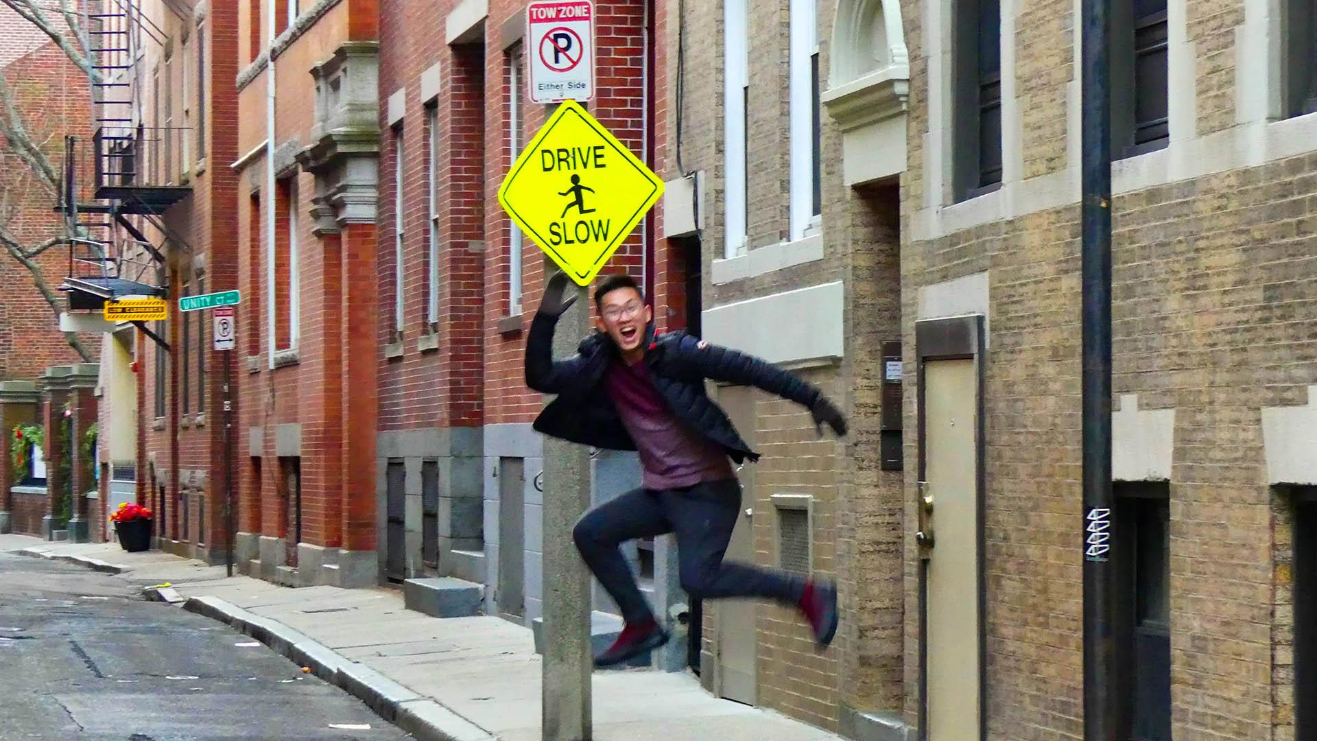 Bill Chien jumping