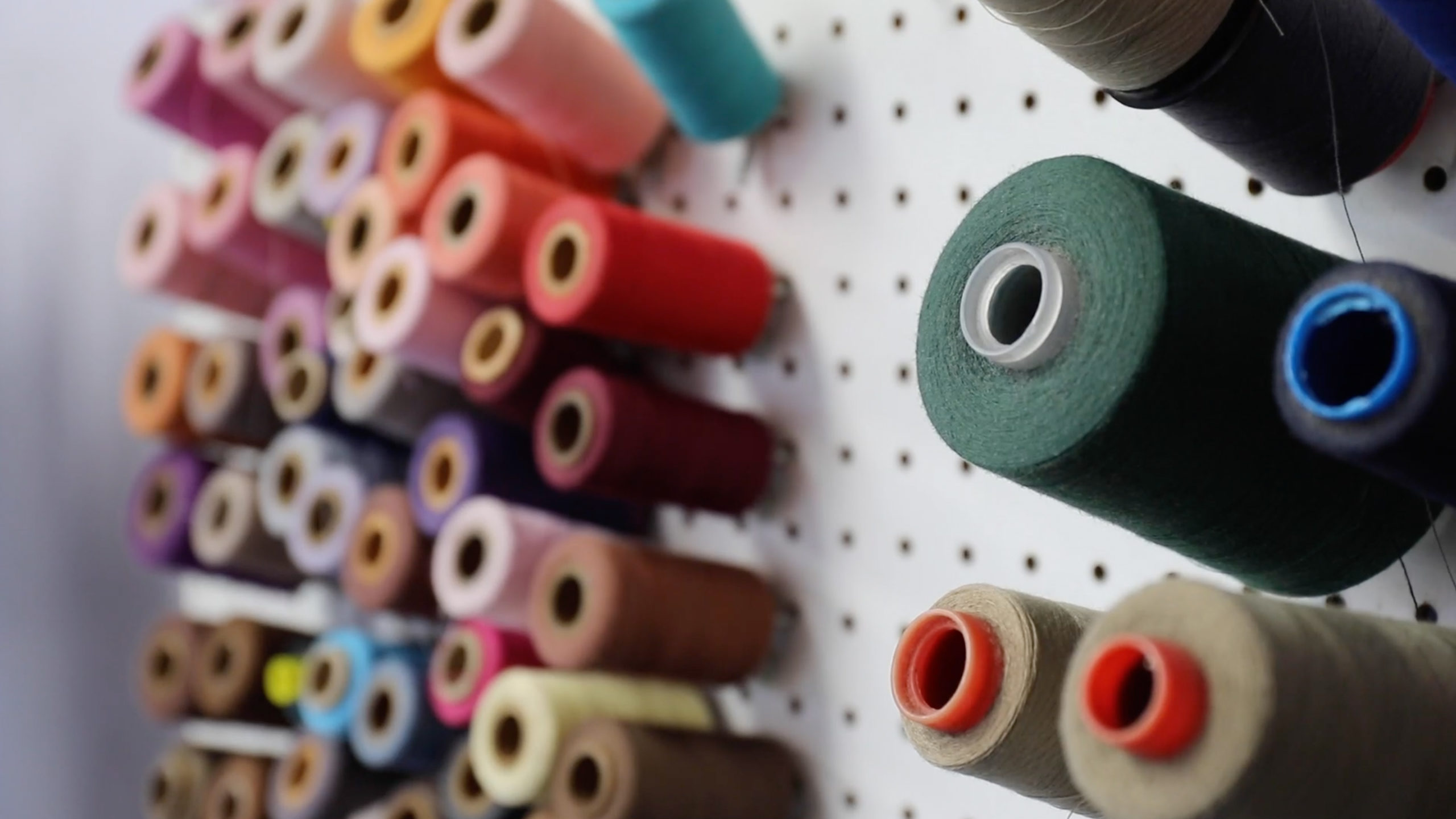 threads on a pegboard