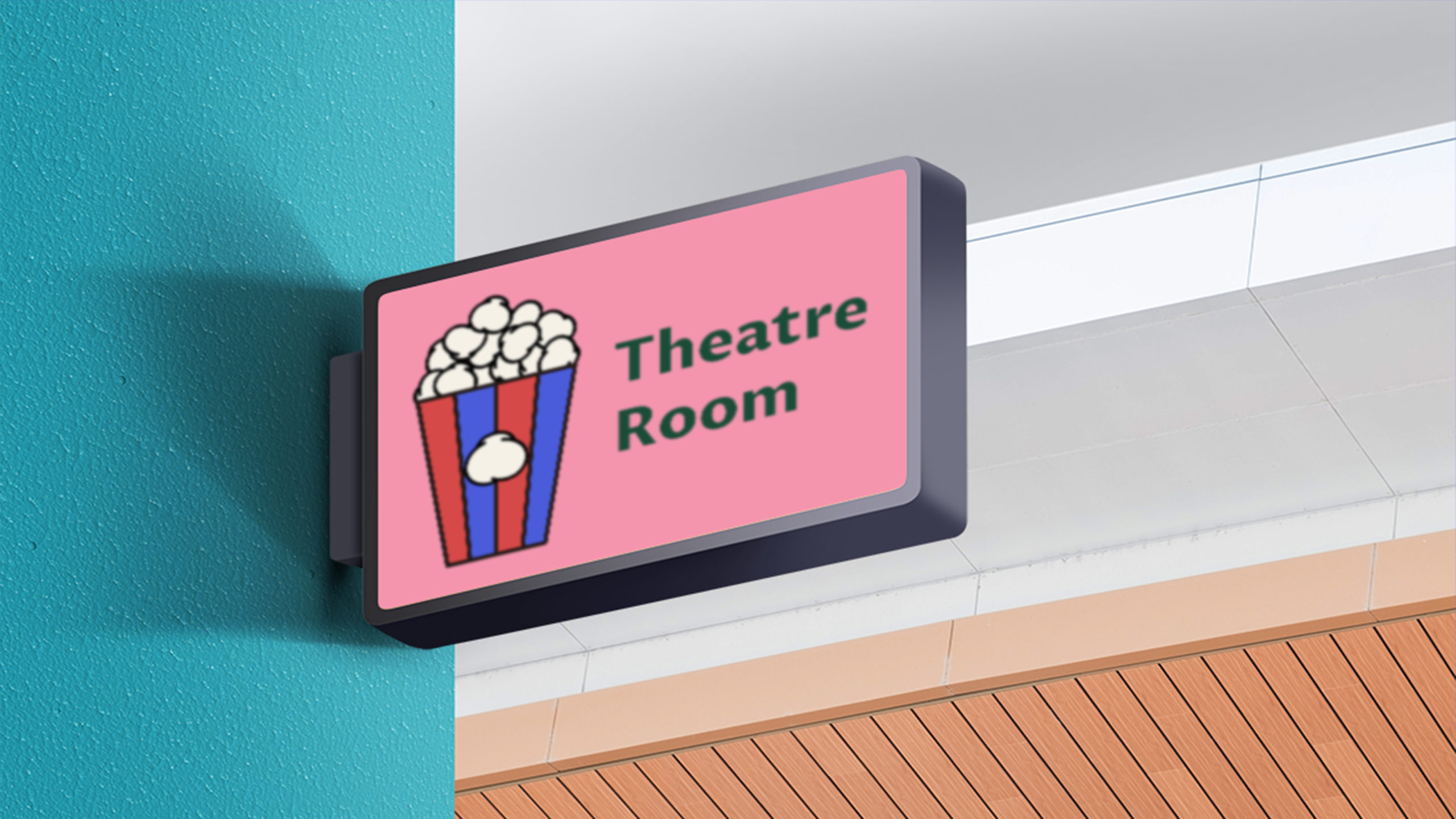Theatre Room signage