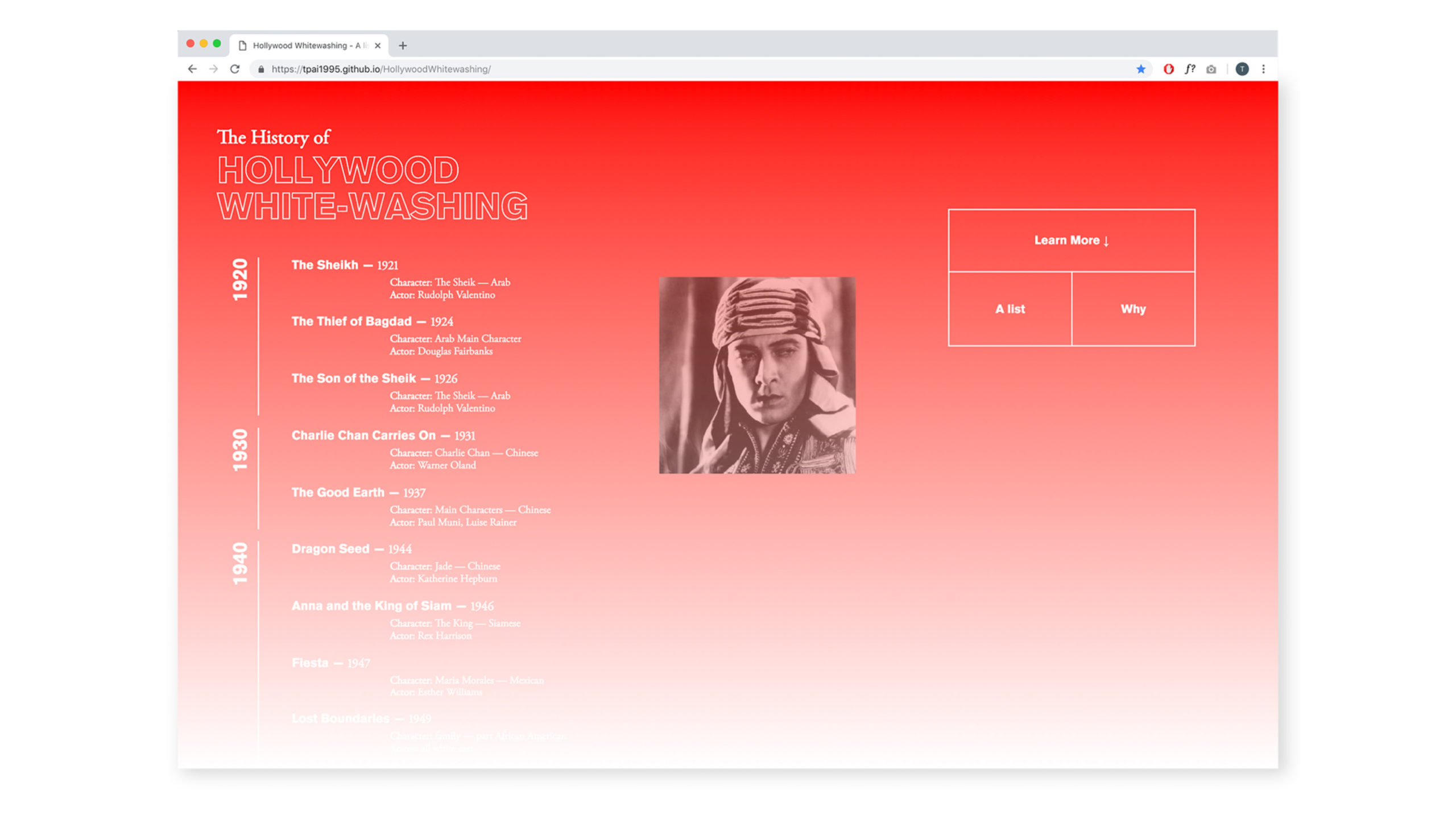 web design by Tiffany Pai
