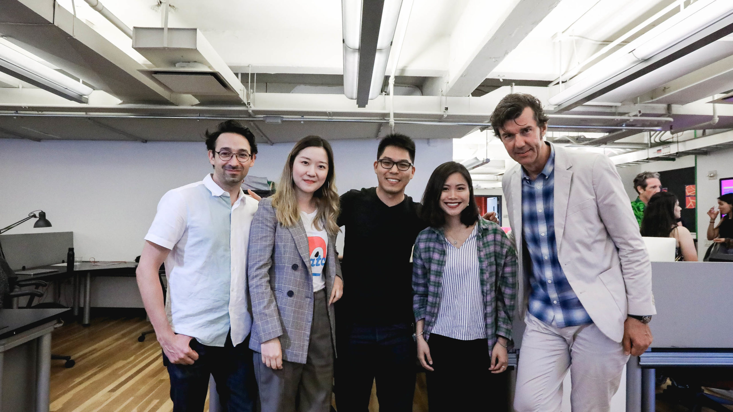 students with Stefan Sagmeister