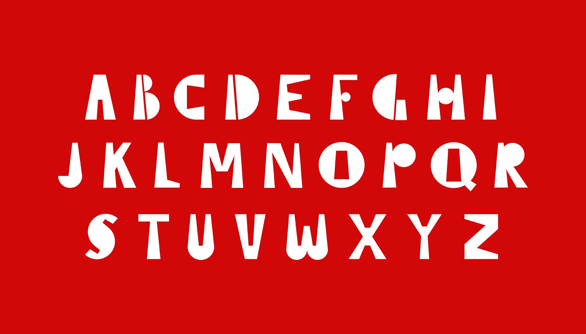 alphabet designed by Ashlyn Stewart