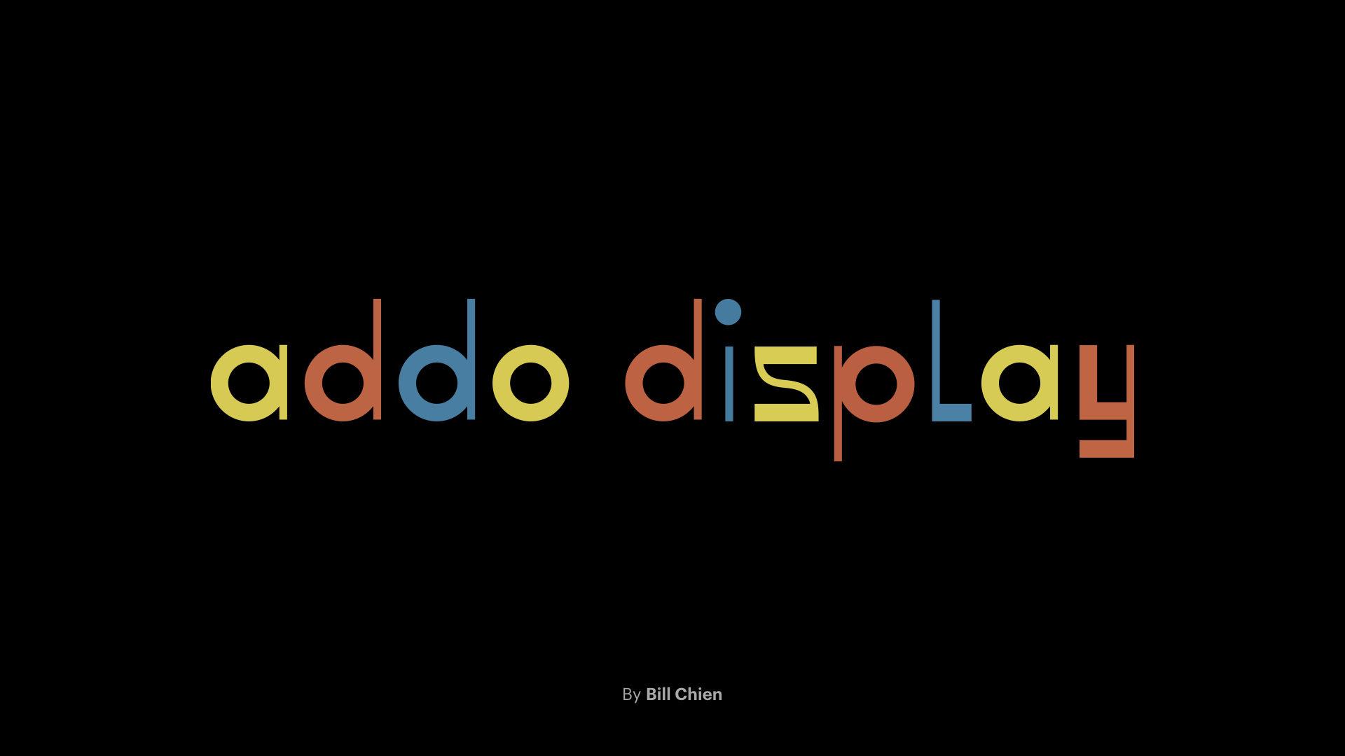 add display custom typeface designed by Bill Chien