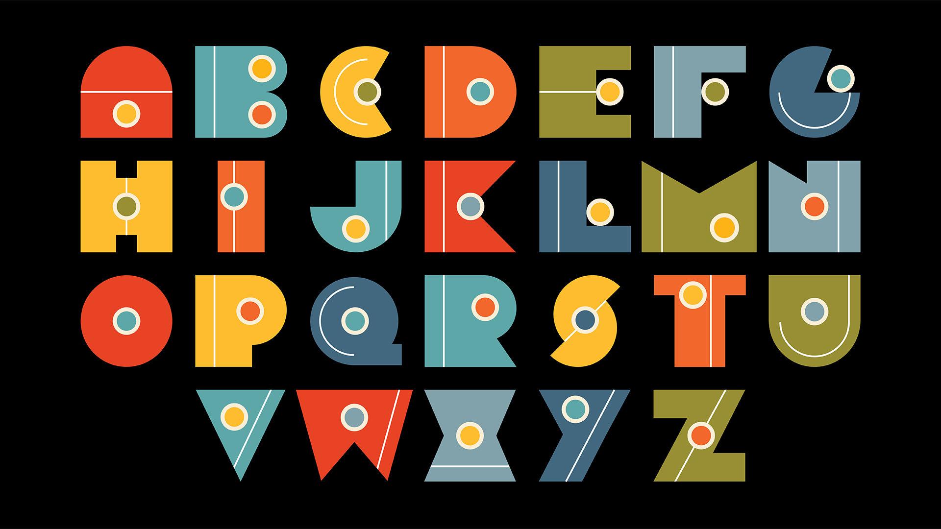 custom alphabets designed by Eunji Kim