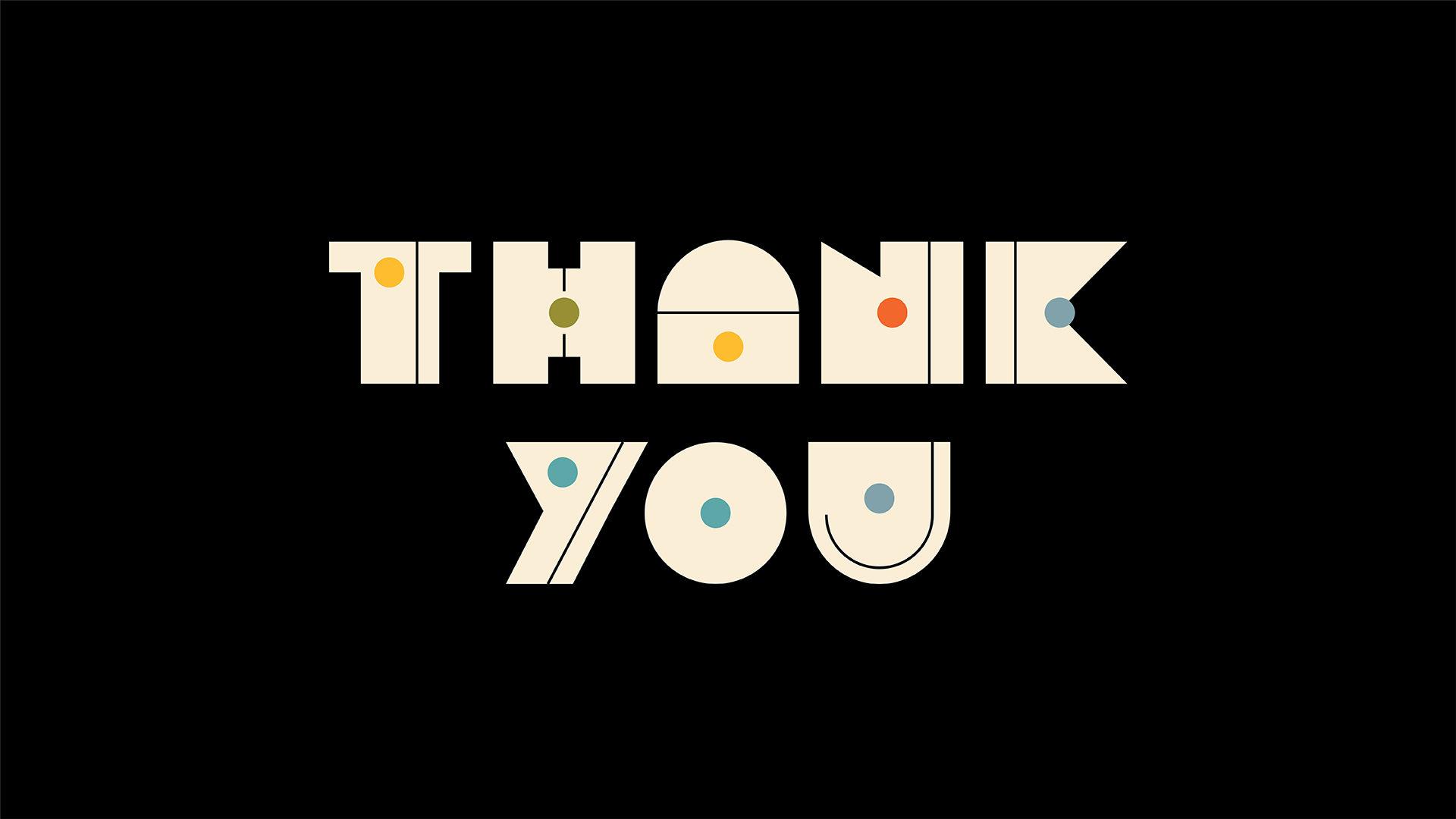 """THANK YOU"" custom type design"