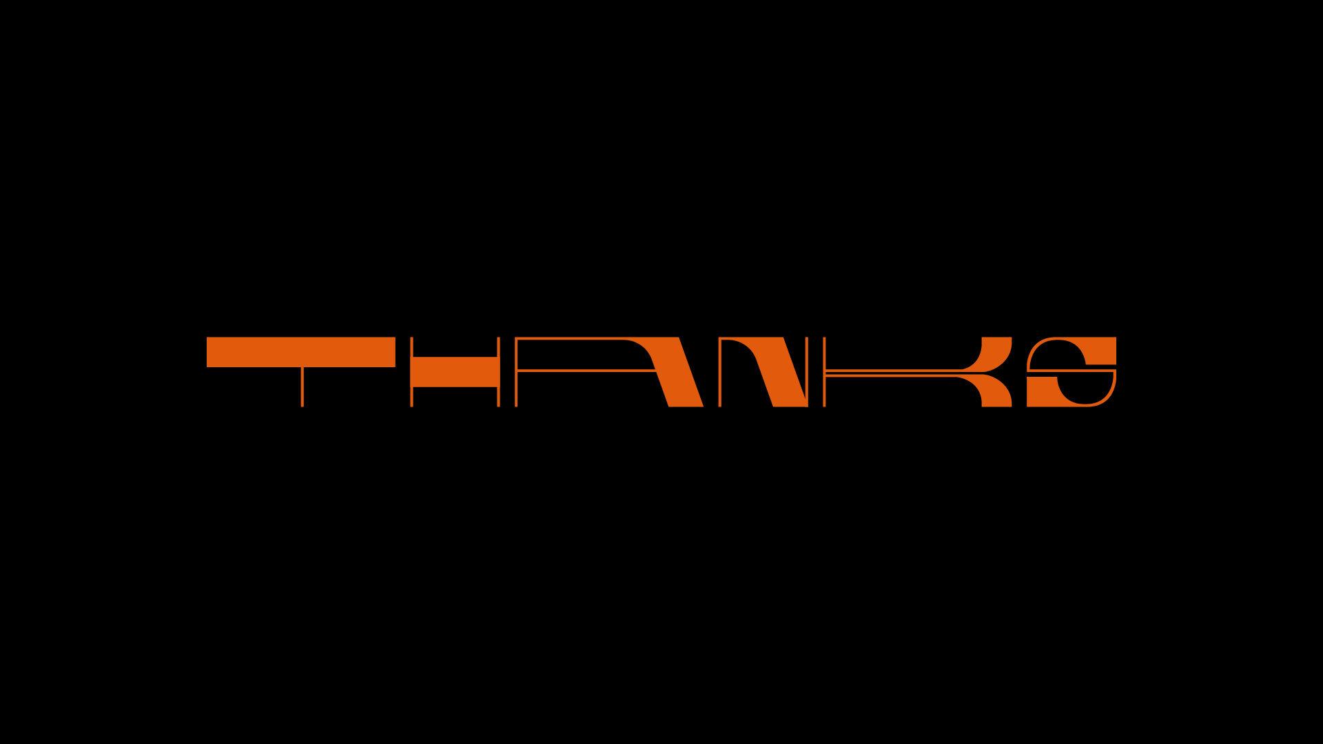 Flexnar typeface orange on black background