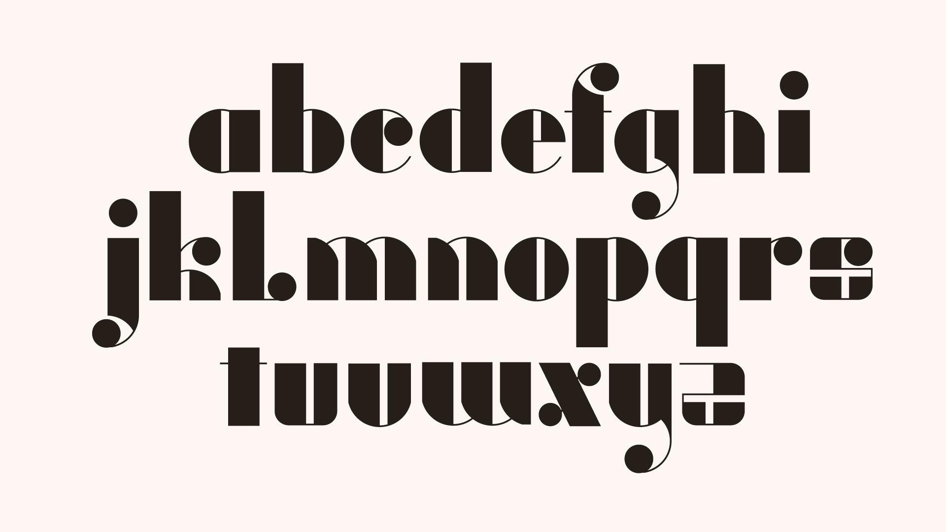 black alphabet design
