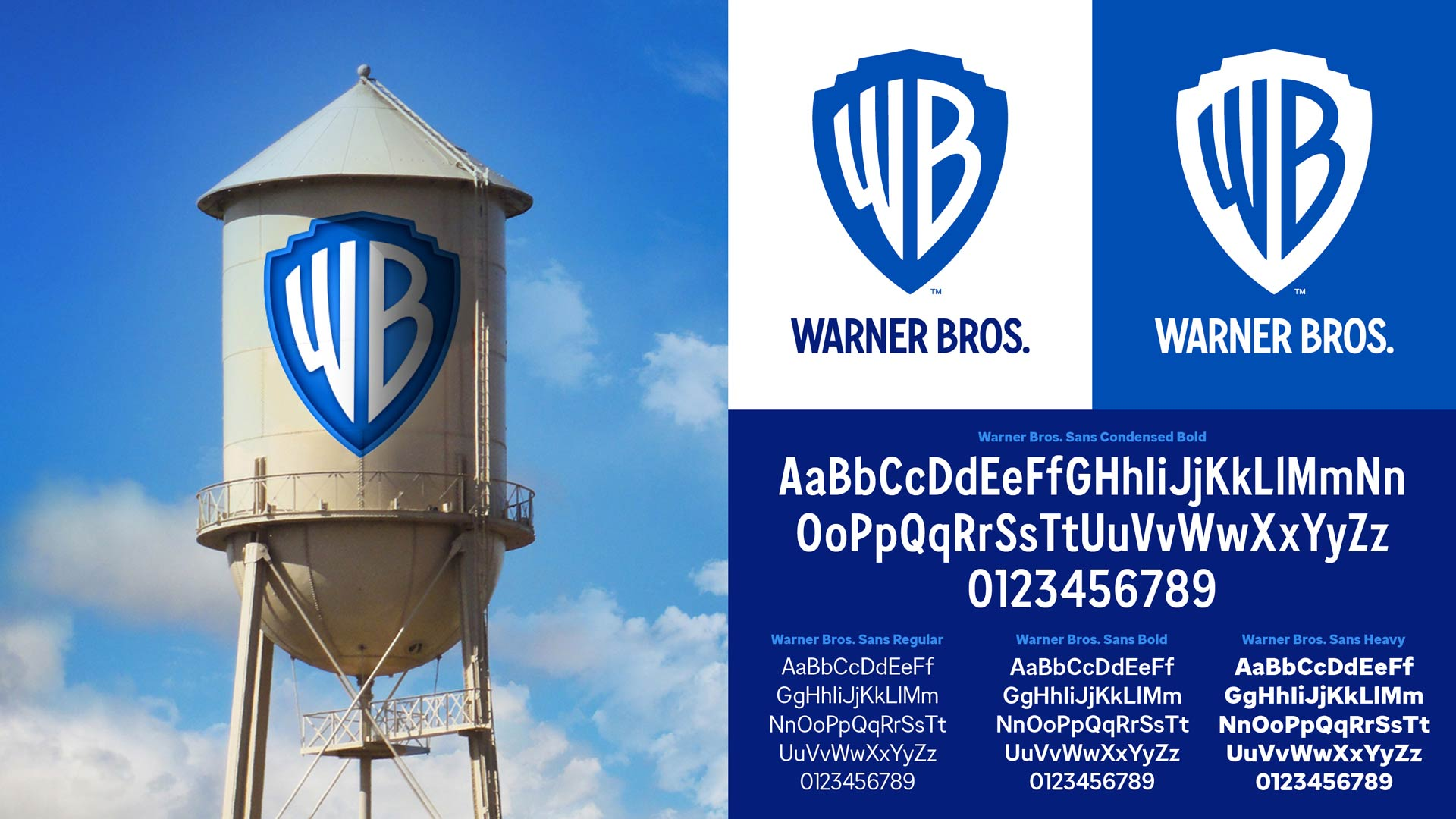 warner bros logo and typeface