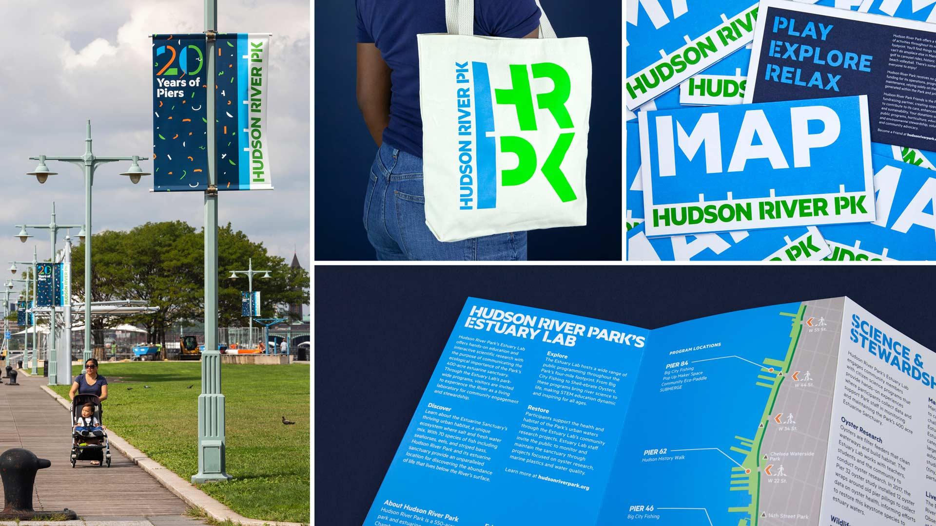 hudson river park signage