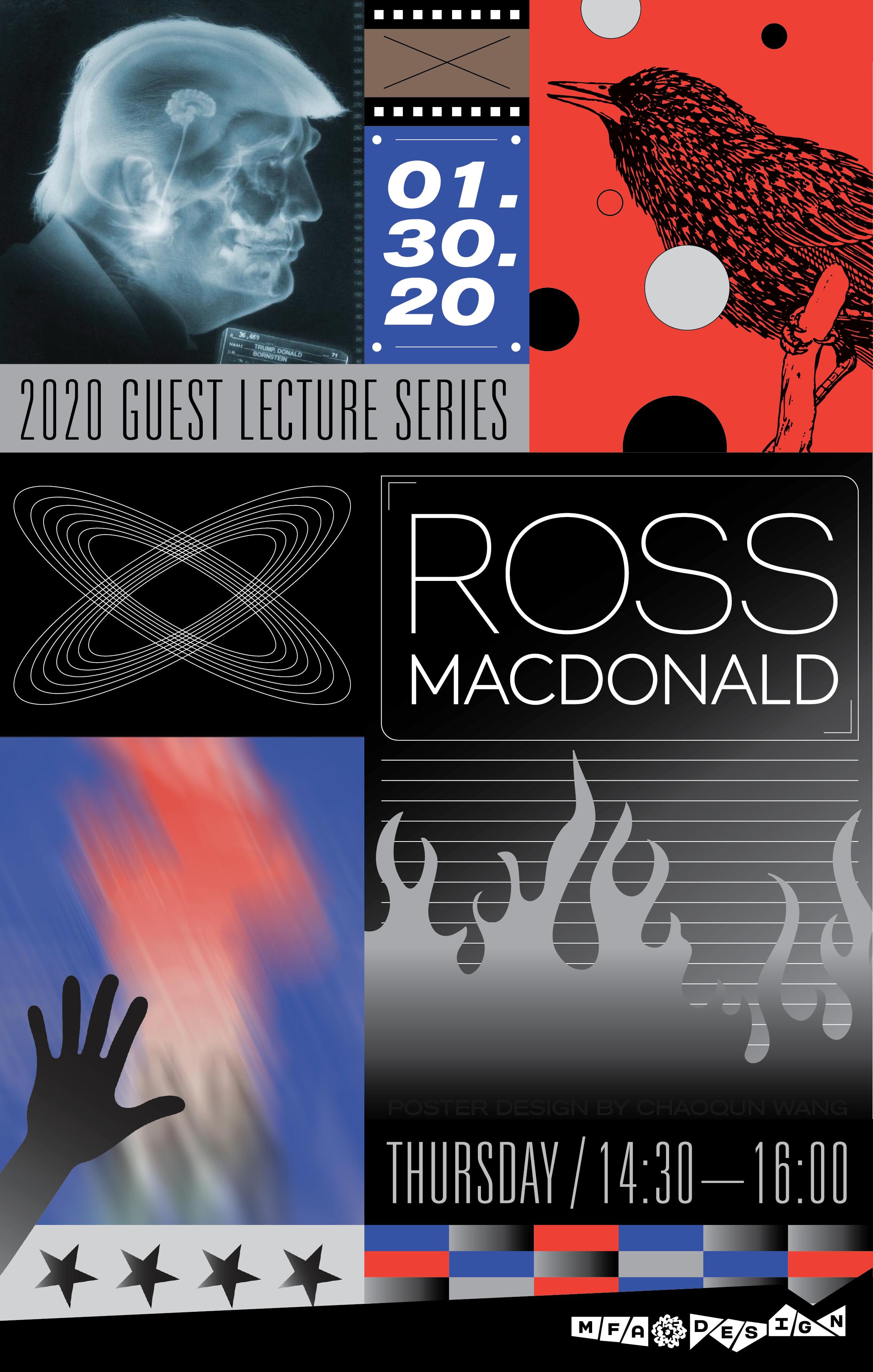 Ross MacDonald lecture poster by Chaoqun Wang