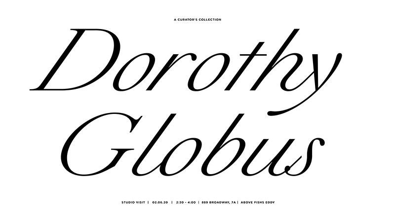 Dorothy Globus lecture announcement; design by Jennifer Bowles