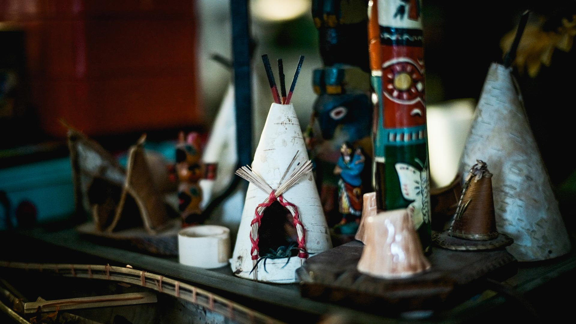 dorothy globus studio miniature native american vilage