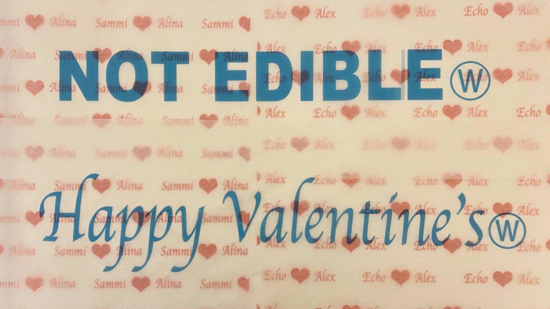not edible gift wrap