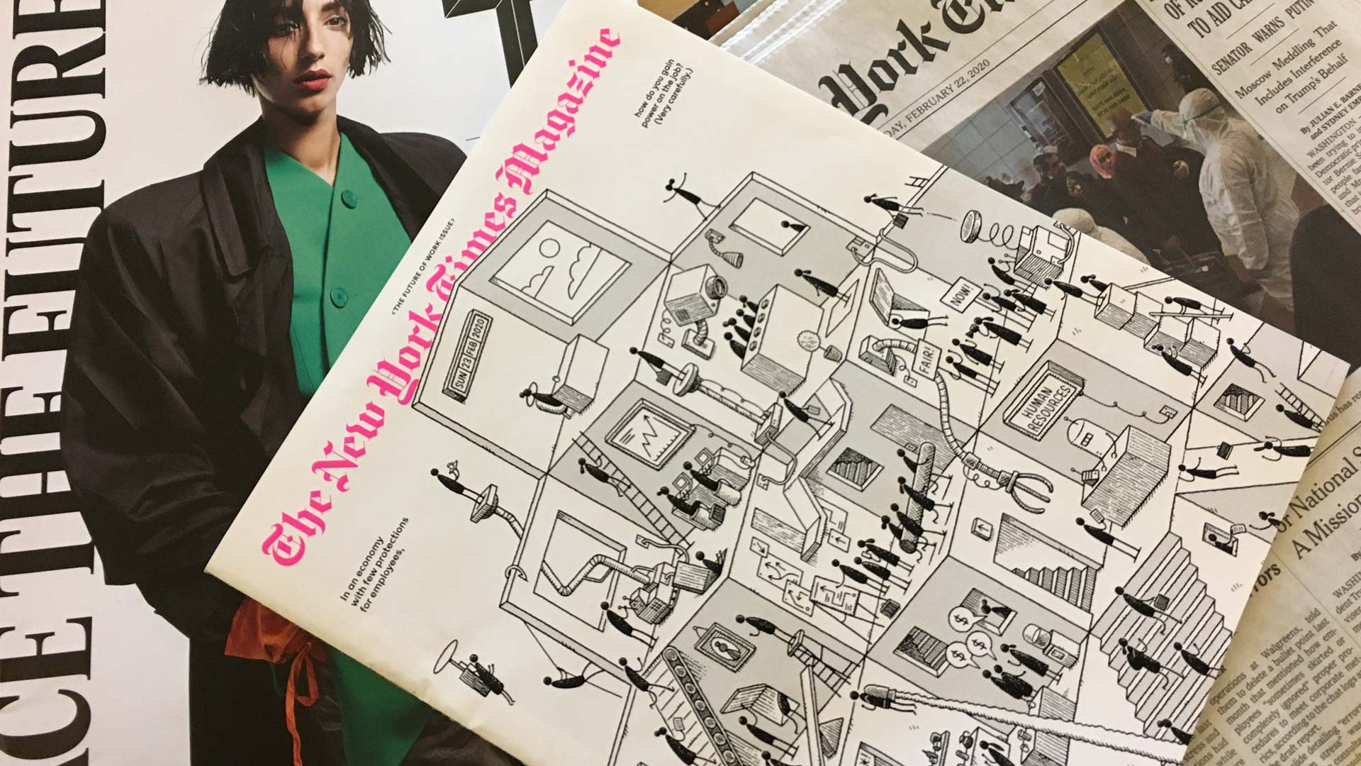 New York Times magazine and fashion section