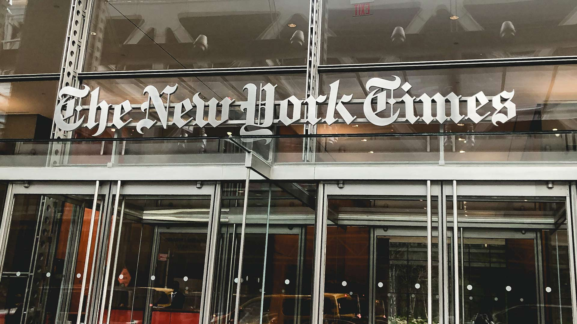 Exterior of New York Times building