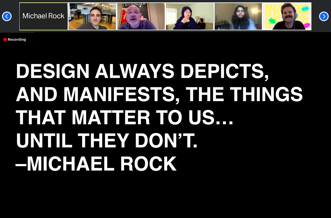 Michael Rock lecture live on zoom