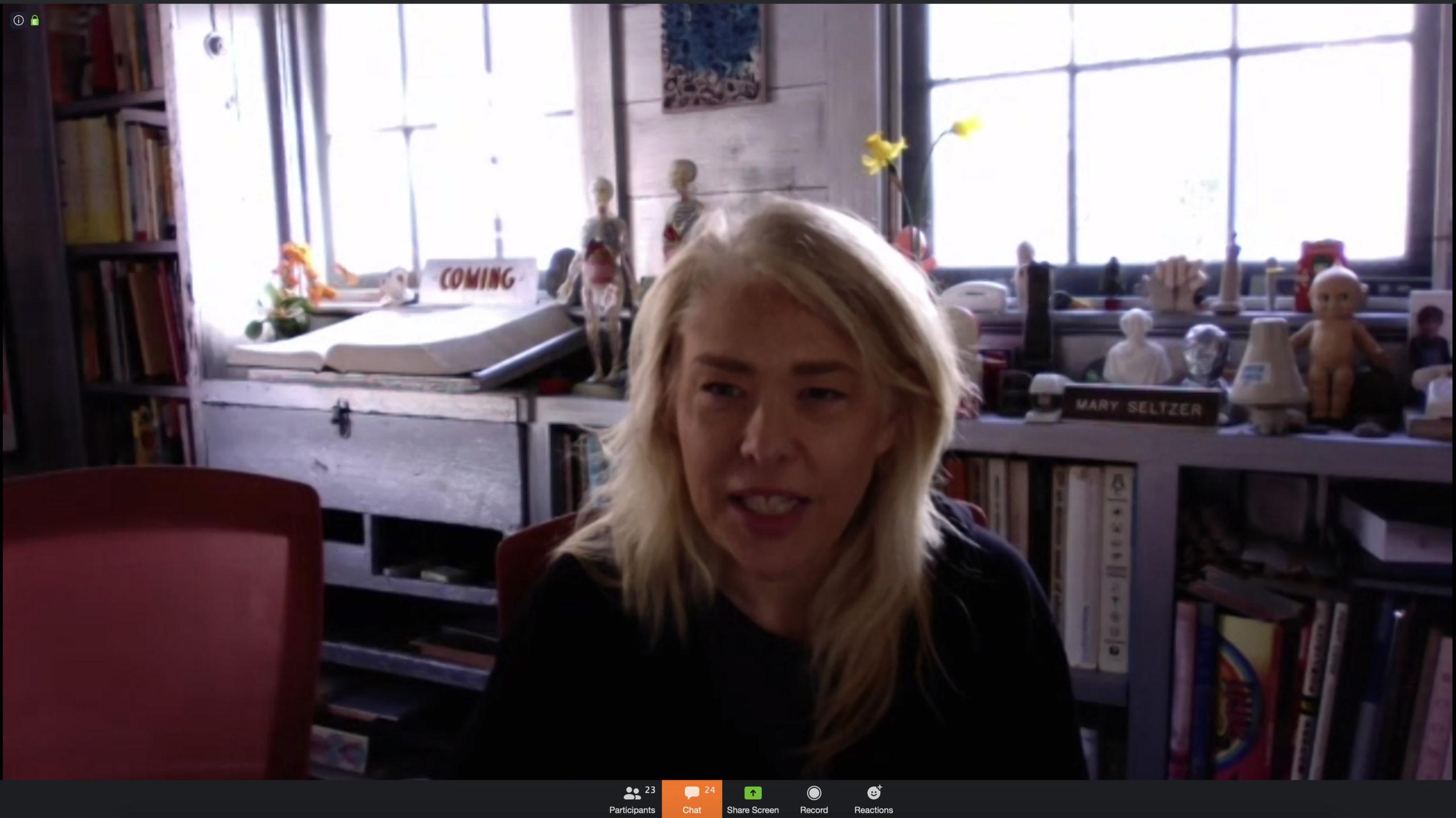 Bonnie Siegler live on zoom