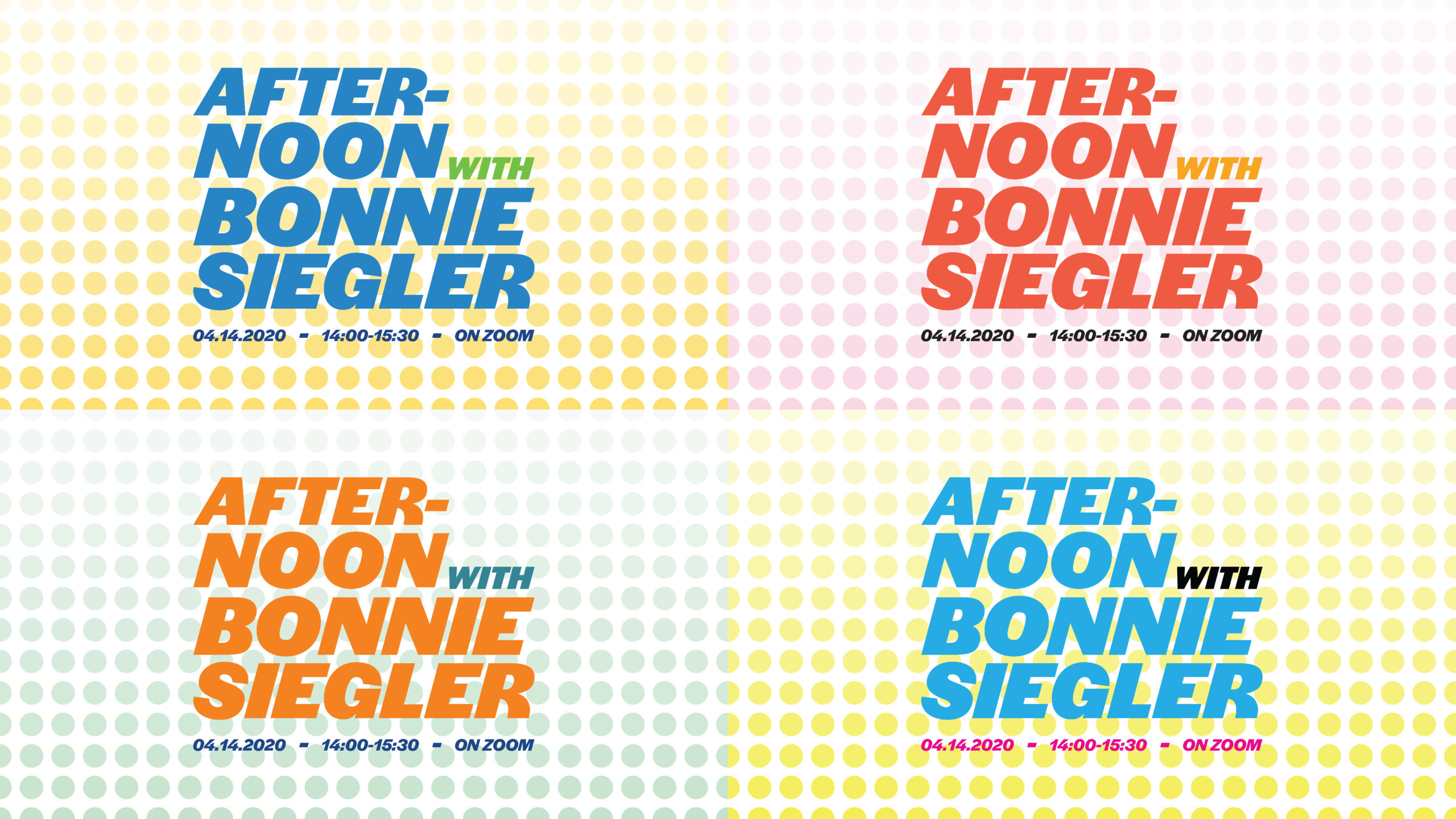 Afternoon with Bonnie Siegler; lecture artwork