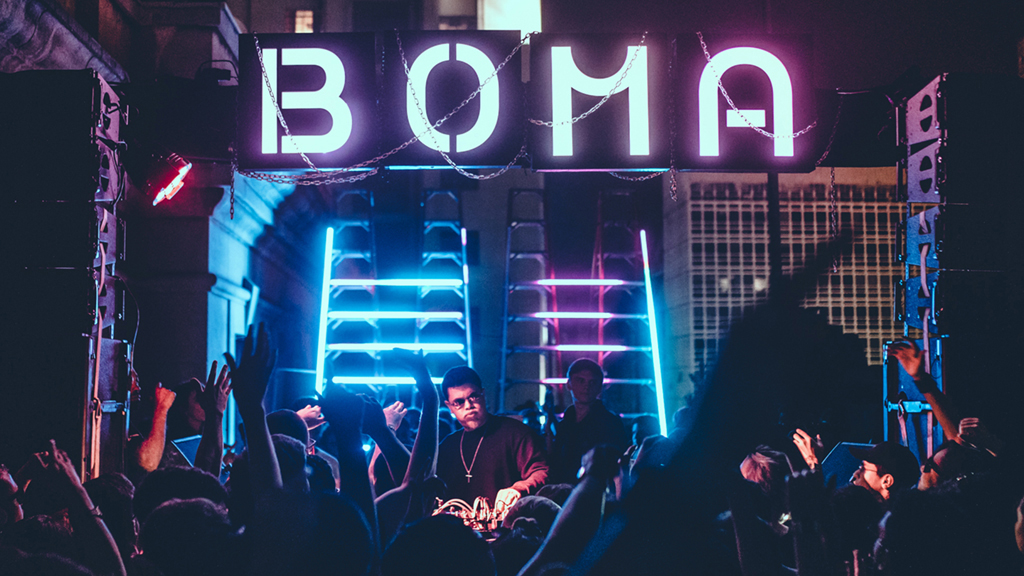Boma logo in the club