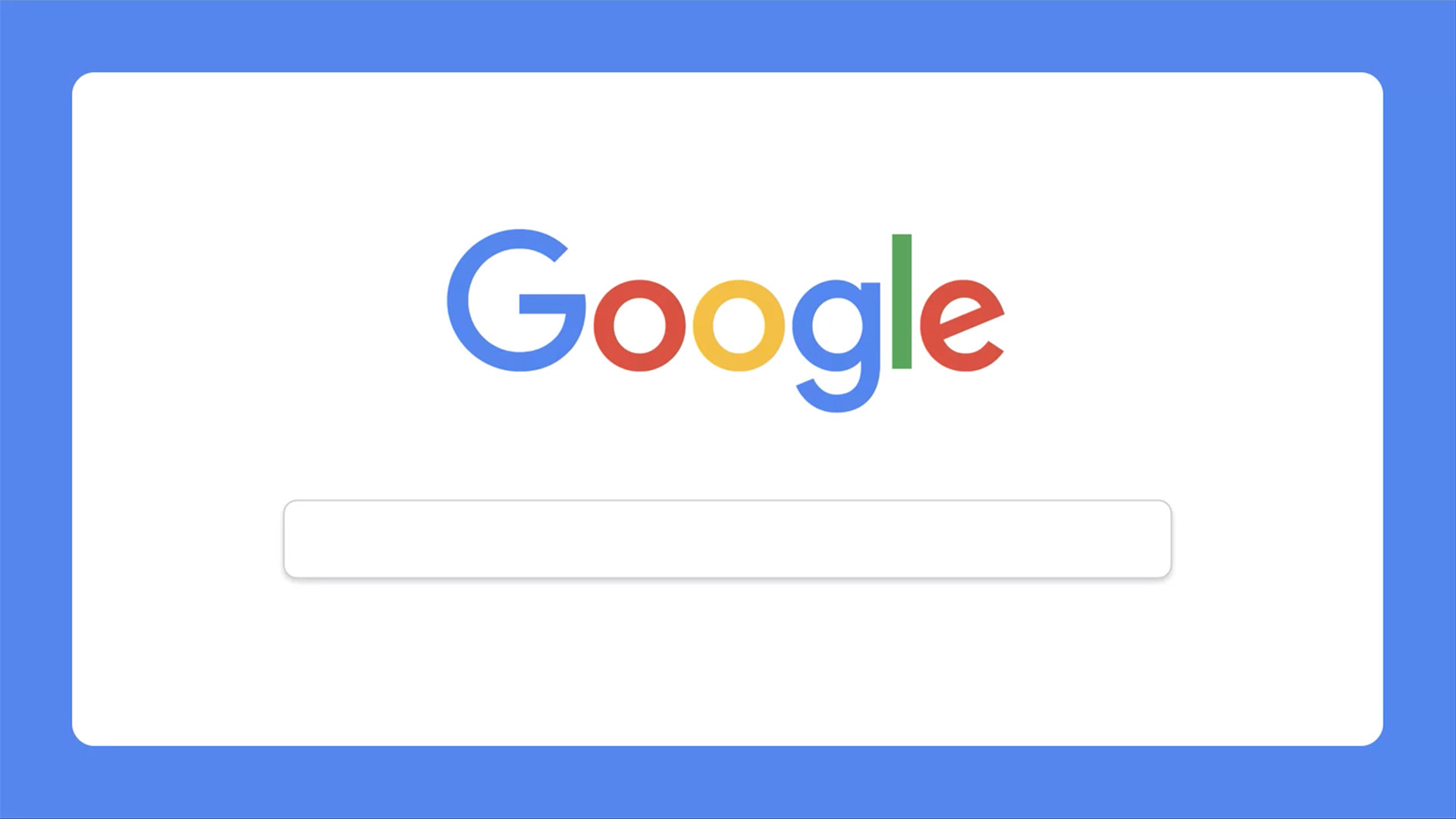 the iconic Google search bar