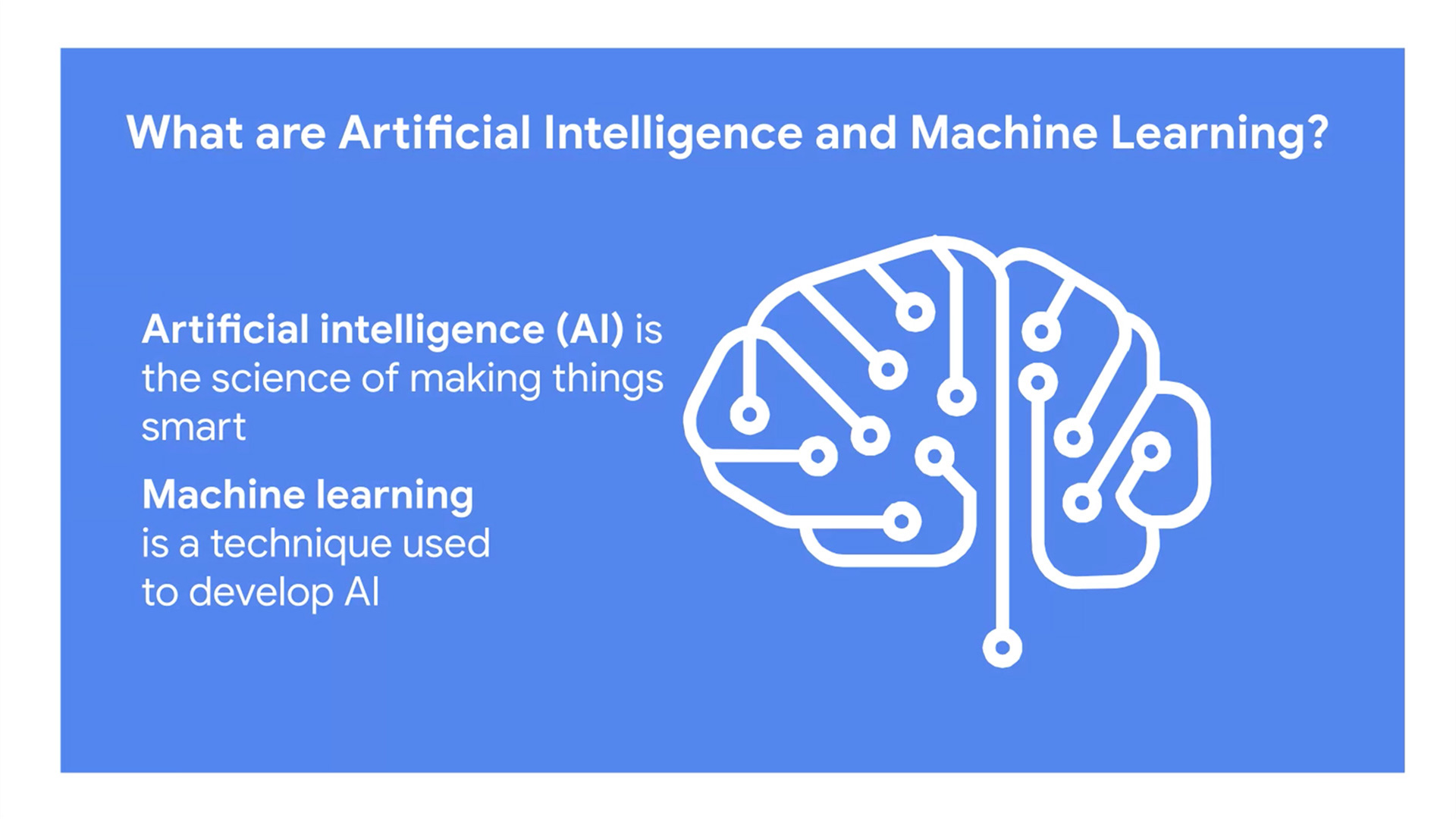 Artificial Intelligence and Machine Learning; Andy Pratt presentation