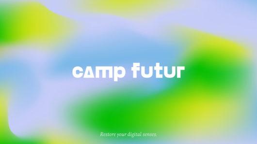 "Camp Futur logo and tagline, ""Restore your digital sense"""