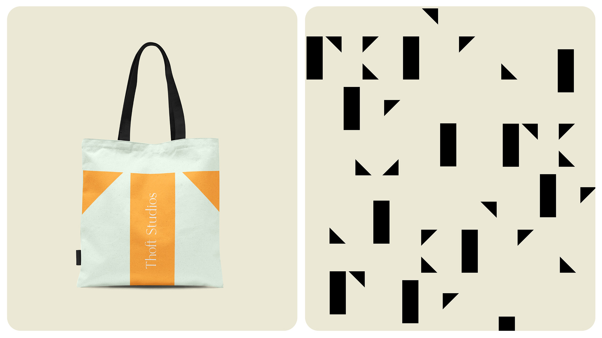 Branding for Thoft Studios: Tote Bag and Type Treatment