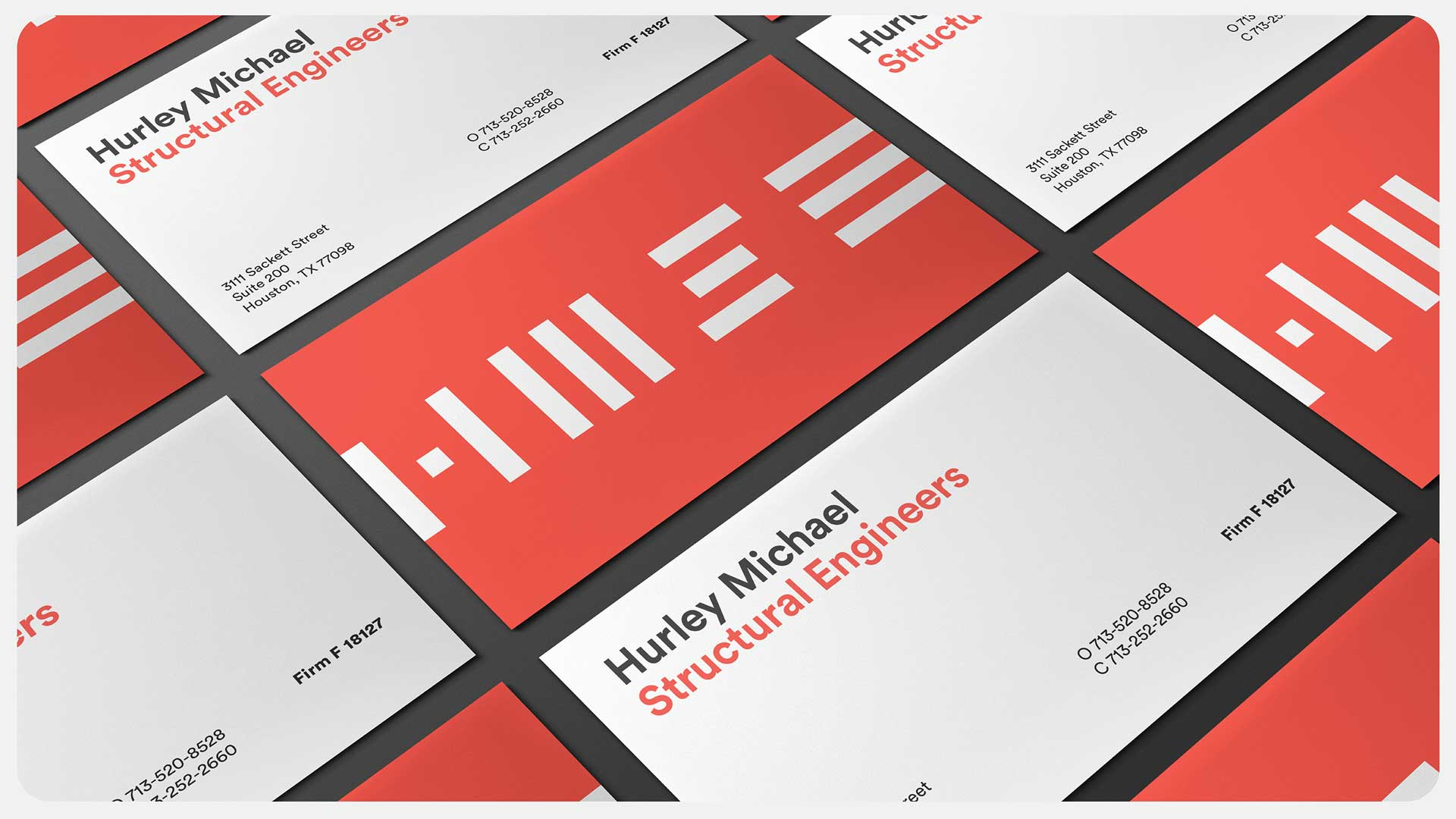 Stationery design for Hurley Michael Structural Engineers